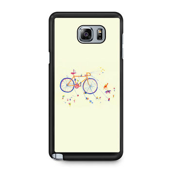 Watercolor bicycle colorful Note 5 Case