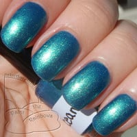 Oceans Nail Polish Teal with Gold-Green Duochrome Shimmer