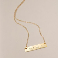 The Betty Collection: Hot Mess Necklace in Gold
