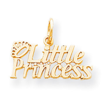 10k Little Princess with Crown Charm 10C113