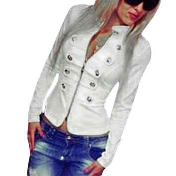 NEW 2016 Women Slim And short Sections Double-Breasted Coat Women jackets *35