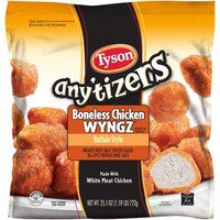 Tyson Any'tizers Buffalo Style Boneless Chicken Wyngz, 25.5 oz - Walmart.com