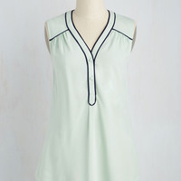Cafe Au Soleil Top in Seaglass | Mod Retro Vintage Short Sleeve Shirts | ModCloth.com