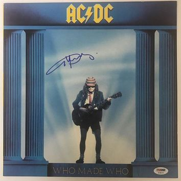DCCKJNG Angus Young Signed Autographed 'Who Made Who' AC/DC Record Album (PSA/DNA COA)