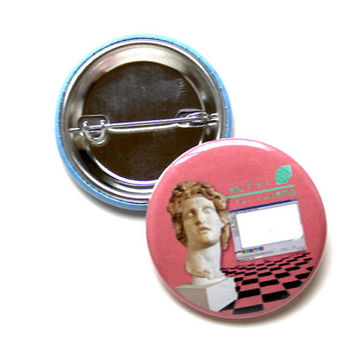 "Vaporwave 1.5"" & 2.25"" Button"
