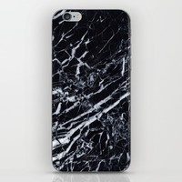 Real Marble Black iPhone & iPod Skin by Grace