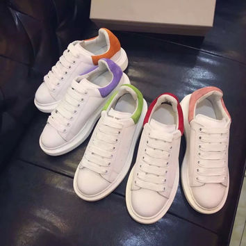 Korean Thick Crust Casual Leather Shoes [4919698948]
