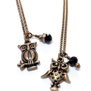 Hufflepuff Striped and Spotted Owl Necklaces