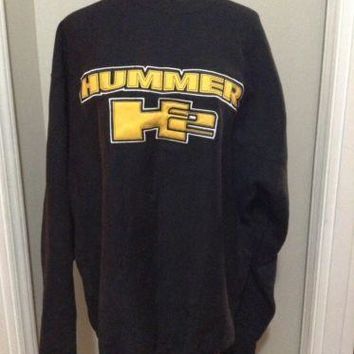 Steve And Barry's Hummer H2 Sweatshirt Black/ Yellow Men's XL