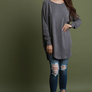 Slouchy Soft Knit Long Sleeve Top | UrbanOG