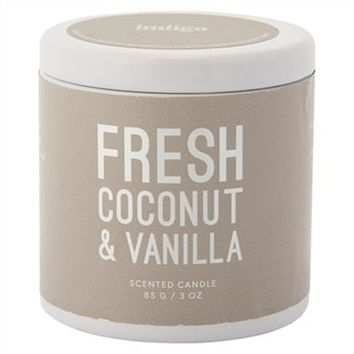 Mini Tin Candle – Fresh Coconut & Vanilla by Indigo Scents | Scented Candles Gifts | chapters.indigo.ca