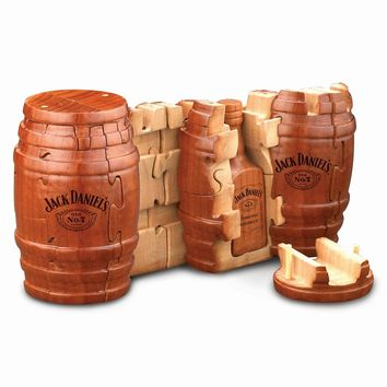 Jack Daniels Wooden Whiskey Barrel Puzzle