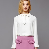 LOVELY RIBBON BLOUSE (IVORY)