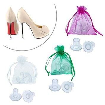 100 Pairs / Lot High Heeler Latin Stiletto Shoes Heel Covers Cap Heel Stoppers Antislip Heel Protectors for Bridal Wedding Party