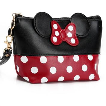Minnie Mouse Cosmetic Bag With Bow