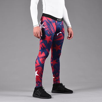 Savage Stars Blue Red White Tights for men