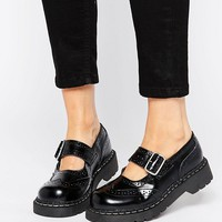 T.U.K. Wingtip Brogues Mary Jane Chunky Leather Flat Shoes at asos.com
