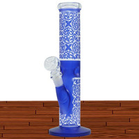 "12"" ART WORK COLOR G/G WITH ICE CATCHER WATER PIPE -WP152"