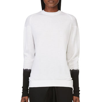 3.1 Phillip Lim White Dip-dye Sweater