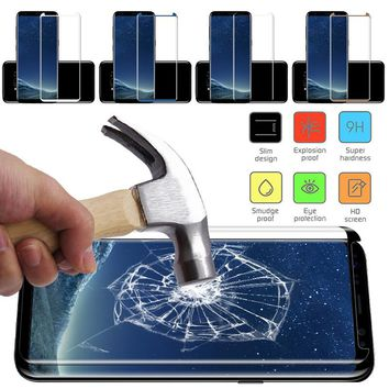 Full Cover 3D Curved Screen Protector Tempered Glass For Samsung Galaxy S8 S8 Plus Glass Explosion-proof Protective Film Guard