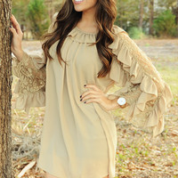 Home Sweet Home Dress: Tan