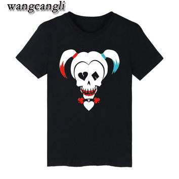Suicide Squad Harley Quinn T-shirts women Funny T Shirts Brand Cotton with women T Shirt Brand Famous in Tee Shirts fashion wome