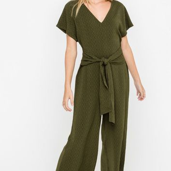 Cropped Jumpsuit, Olive
