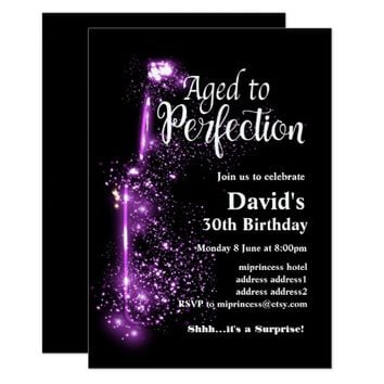Wine birthday invitation, Aged to Perfection Card