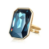 Rebecca Designer Rings Elizabeth - Yellow Gold Plated Bronze Ring