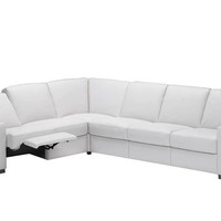 Dual Reclining Color Customizable Leather True Sectional Sofa Corno by Natuzzi Editions
