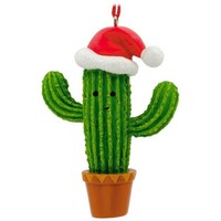 Cactus in Santa Hat Hallmark Ornament