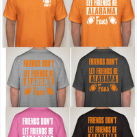 UNIVERSITY OF TENNESSEE volunteers vols big orange metal sign friends dot let friends alabama fans t shirt