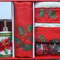 Christmas Floral 16 Piece Holiday Bath Set