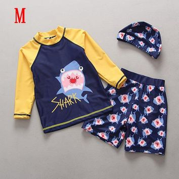 Professional Children Two-Piece Swimsuits 2018 Kids Swimsuit Trunks Swimming Pool Costume UPF50+ Rashguards Swimwear for Boys