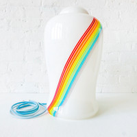 Rainbow Rode Vintage Handblown Murano Glass Lamp