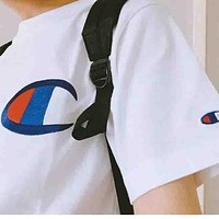Champion men and women tide embroidery top T shirt shirt F