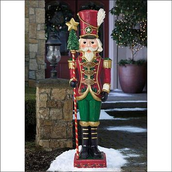 6' Wood-Look Nutcracker