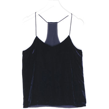 Velvet Silk Sleeveless Top