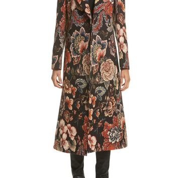 Stella McCartney Floral Tapestry Long Coat | Nordstrom