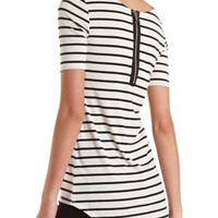 Striped High-Low Tee by Charlotte Russe