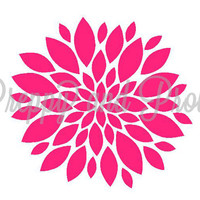 Flower Bloom Decal  Sticker for Phones, laptops, Cars, Yeti, S'well, Swell, Tablets