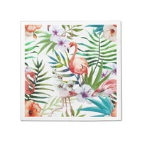 Flamboyant Flamingo Tropical nature garden pattern Paper Napkin