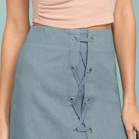 Feeling Flirty Blue Mini Skirt