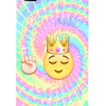 Emoji King Tie Dye Iphone, Ipod or Galaxy Case