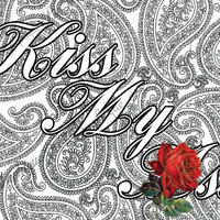 "Kiss My *ss Coloring Page The swearing words ""Kiss My *ss"" Doodles - 2 background white and black sweary word"