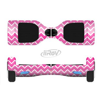 The Pink & White Ombre Chevron V2 Pattern Full Body Skin Set for the Smart Drifting SuperCharged Transportation iiRov