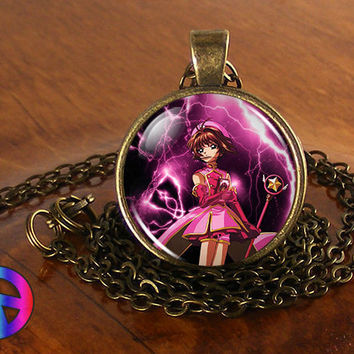 Anime Card Captor Cardcaptor Sakura Cosplay Necklace Pendant Jewelry Toy Gift