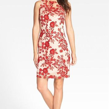 Joanna Chen - Sequined Floral Cocktail Dress JC1259