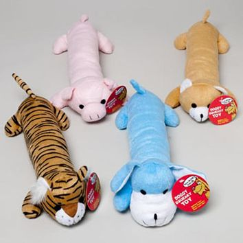 14 inch Plush Squeaker Animals Dog Toy - 20 Units