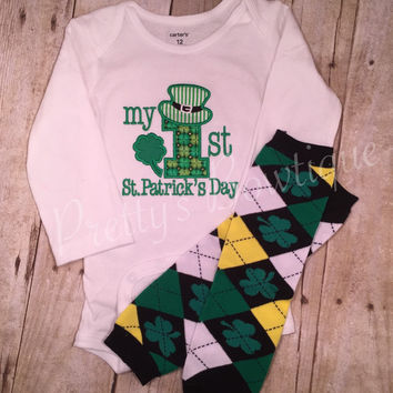 My First St. Patricks Day with legwarmers